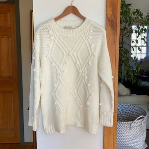 Sweater with Popcorn Knot Detail